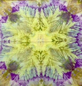 Hand Dyed Mandala Green & Purple