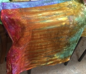 Hand Dyed Tree fabric, lots of ironing