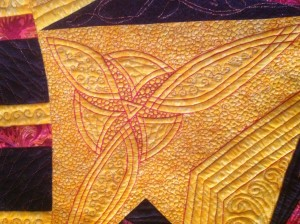 Heirloom quilting - original design, my Art Deco quilt