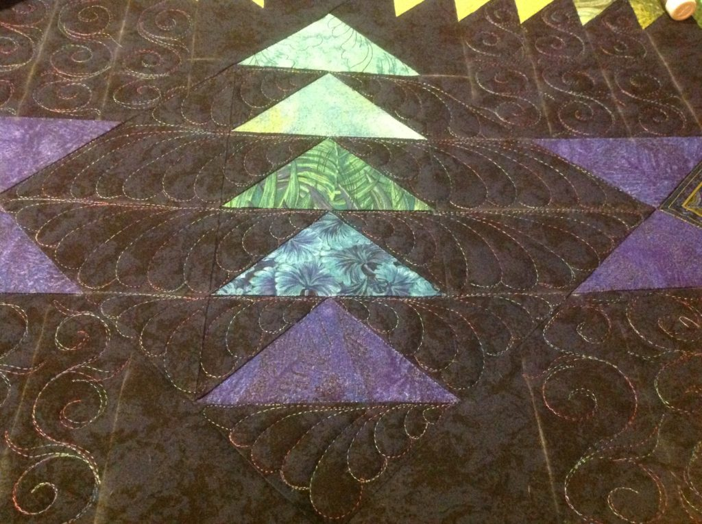 Custom Quilting - Flying Geese