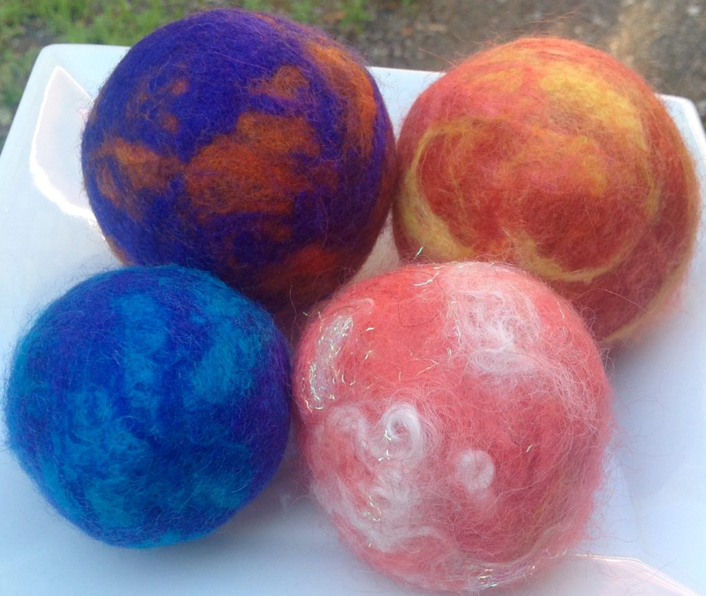 Pincushions - 100% wool beads, great for keeping pins and smooshes down to pack well for retreats!